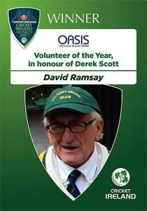 Dave Ramsay winner of Volunteer of the Year Award 2017